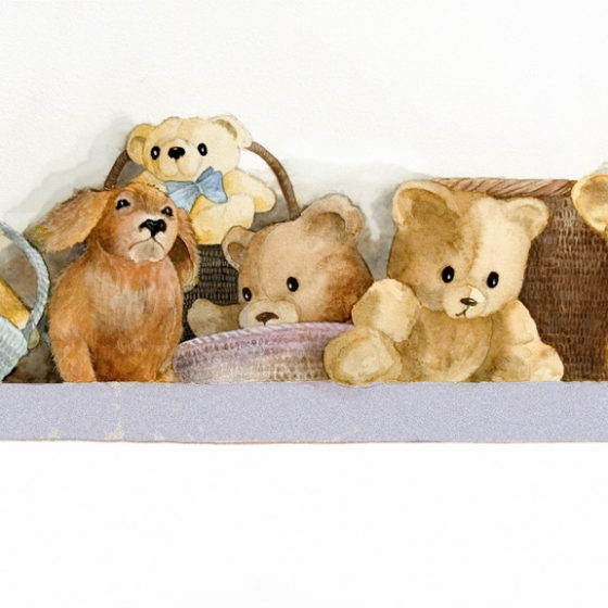 Teddy Bears on Shelf